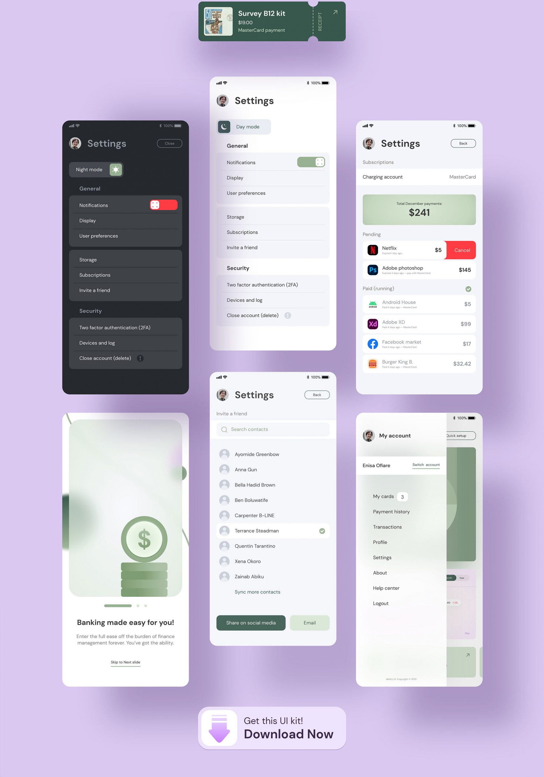Glassmorphism 金融储蓄银行交易所财务APPUI套件工具包 Ability UI Kit(3783)插图(5)