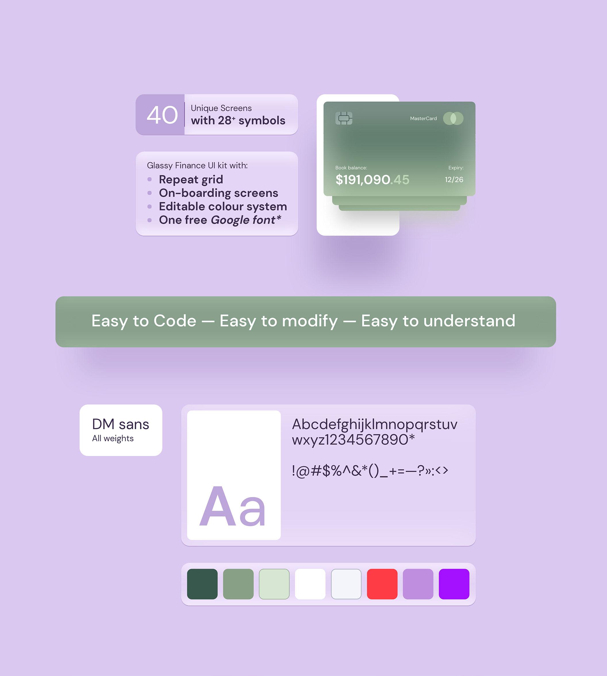 Glassmorphism 金融储蓄银行交易所财务APPUI套件工具包 Ability UI Kit(3783)插图(7)