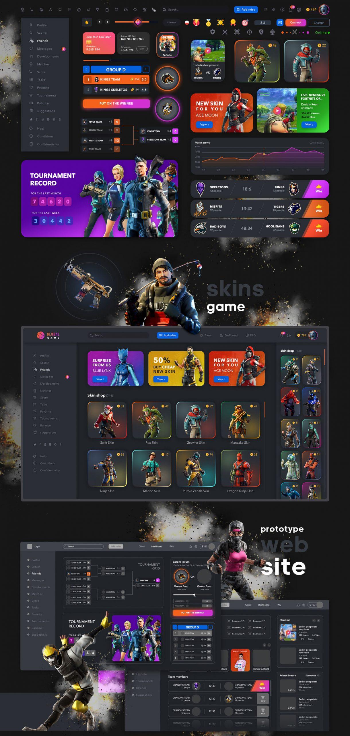 游戏网站行业全局UI套件 Game Global UI kit (3962)插图(4)