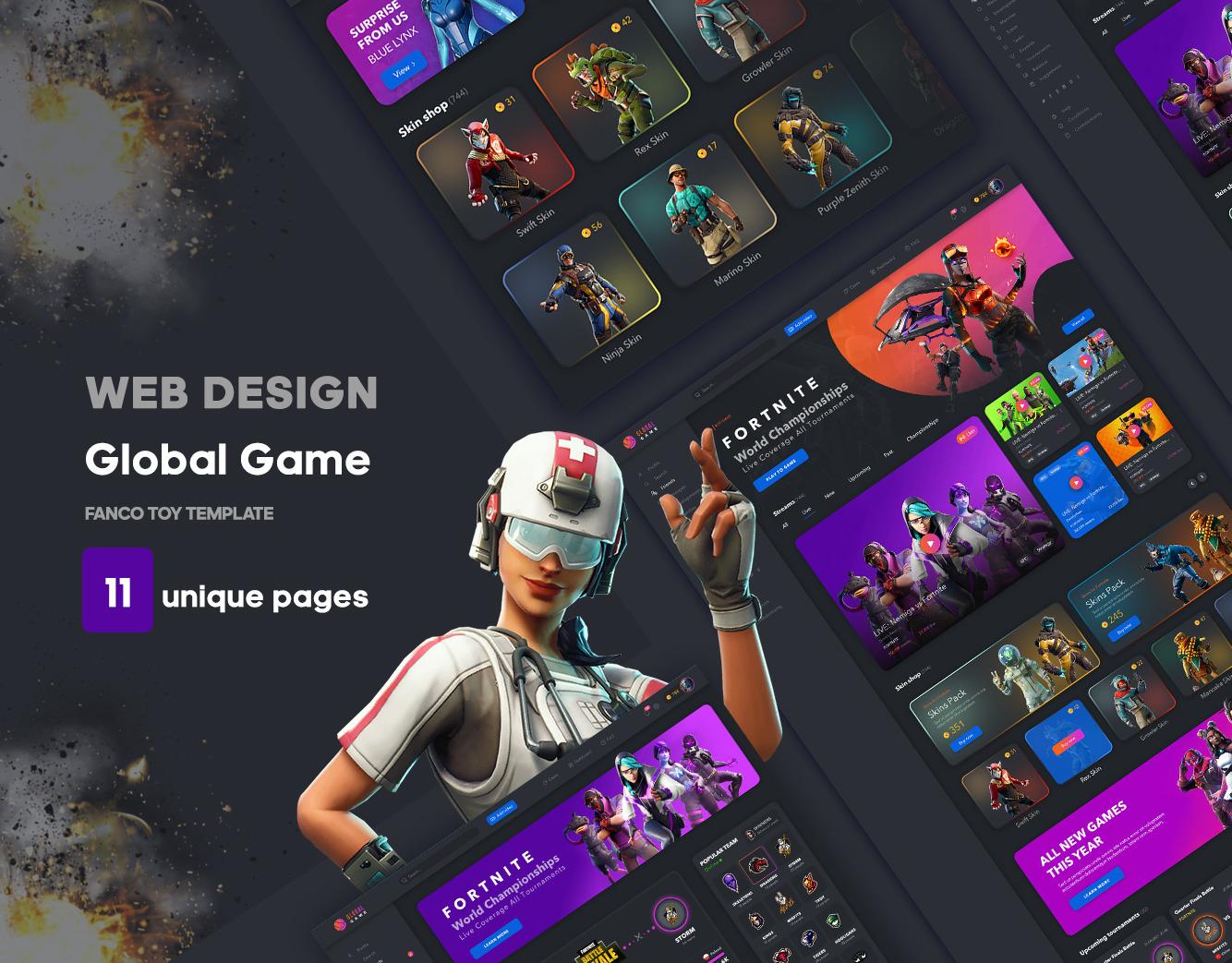 游戏网站行业全局UI套件 Game Global UI kit (3962)插图