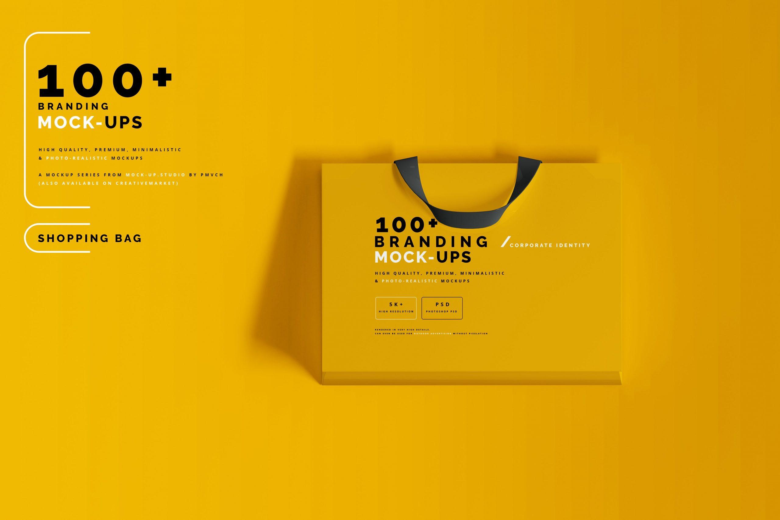 VI样机:100多个宣传册书籍瓶子名片CD封套咖啡杯化妆品海报横幅高分辨率品牌PSD样机(4248)插图(36)