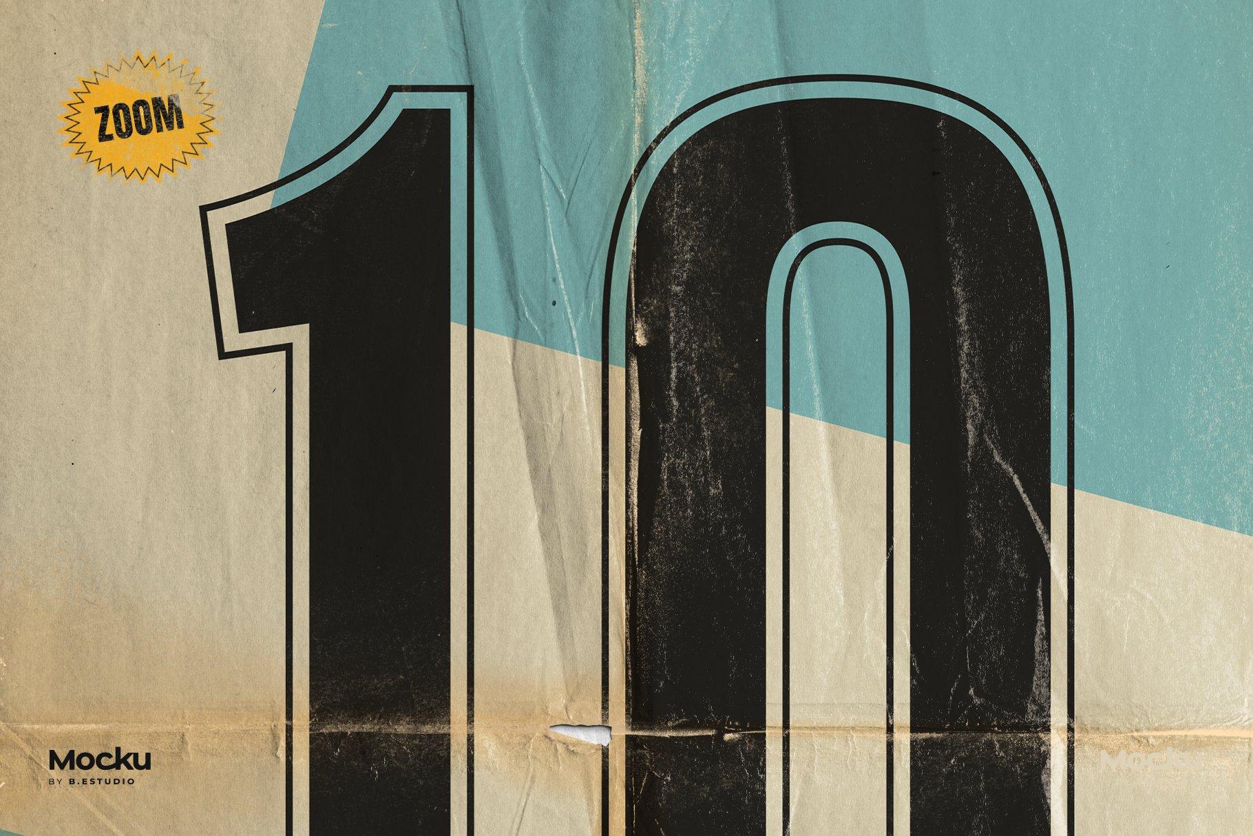 Megapack 复古破旧划痕撕纸褶皱海报PSD模板+笔刷(4318)插图(7)