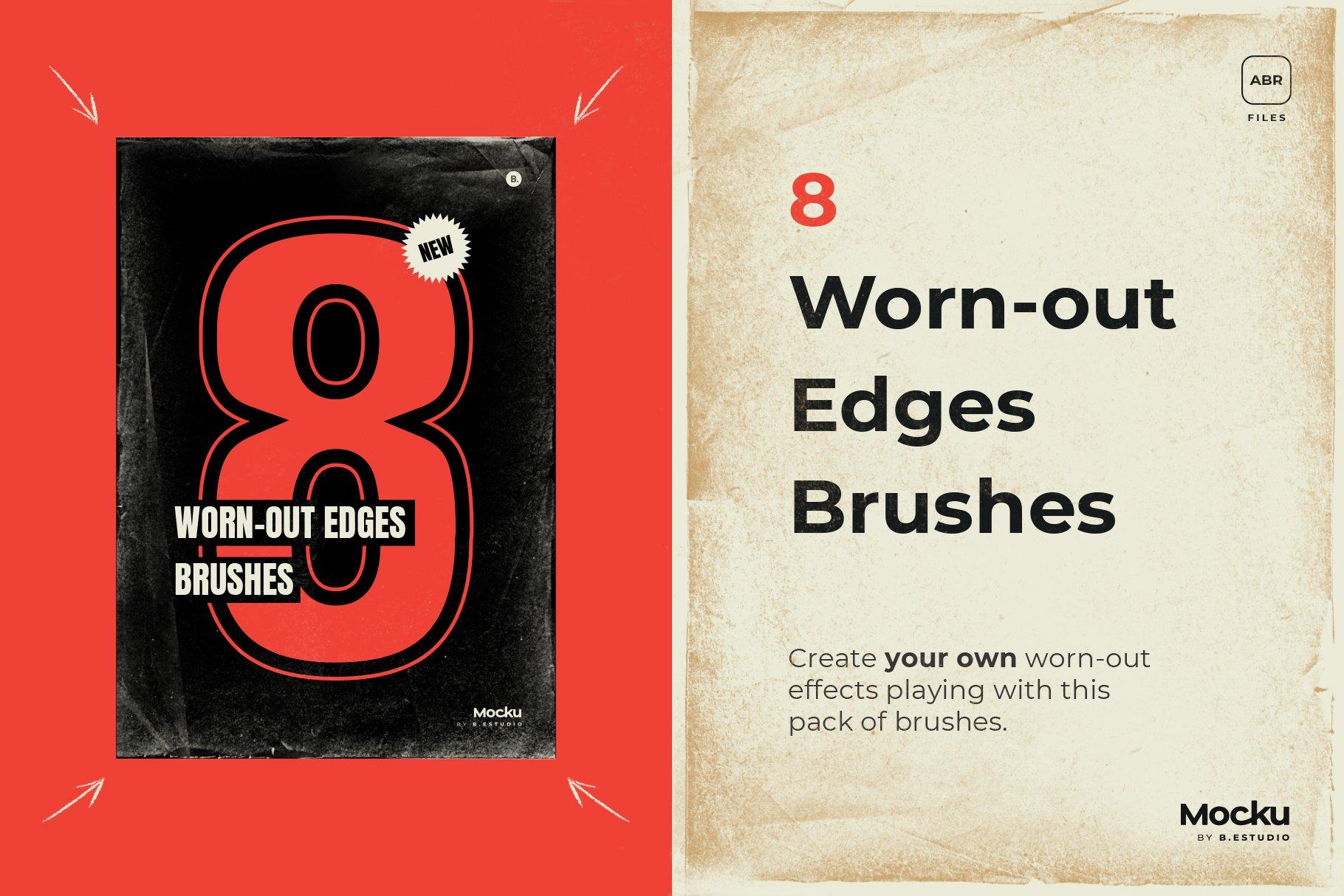 Megapack 复古破旧划痕撕纸褶皱海报PSD模板+笔刷(4318)插图(3)