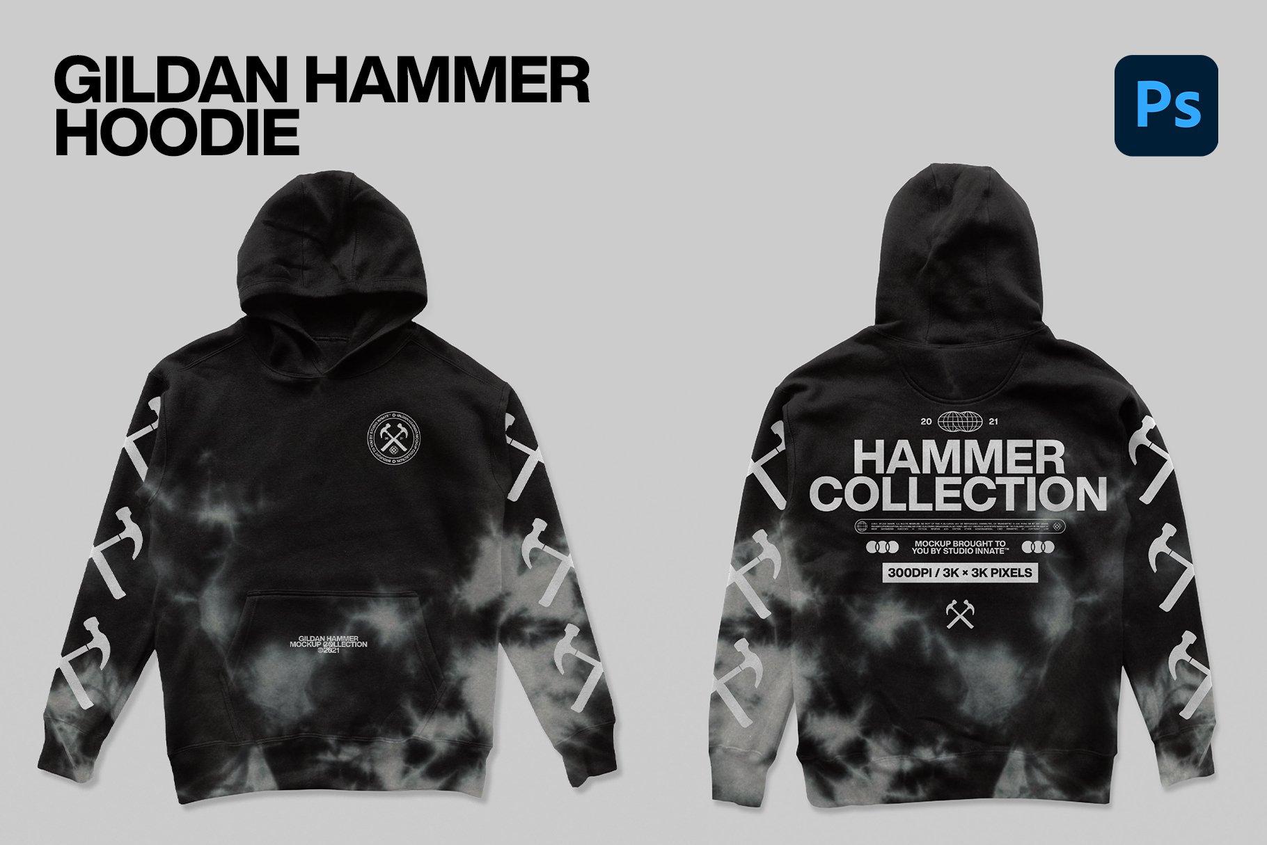 Hammer Collection 卫衣短袖PSD服装样机(4323)插图(4)