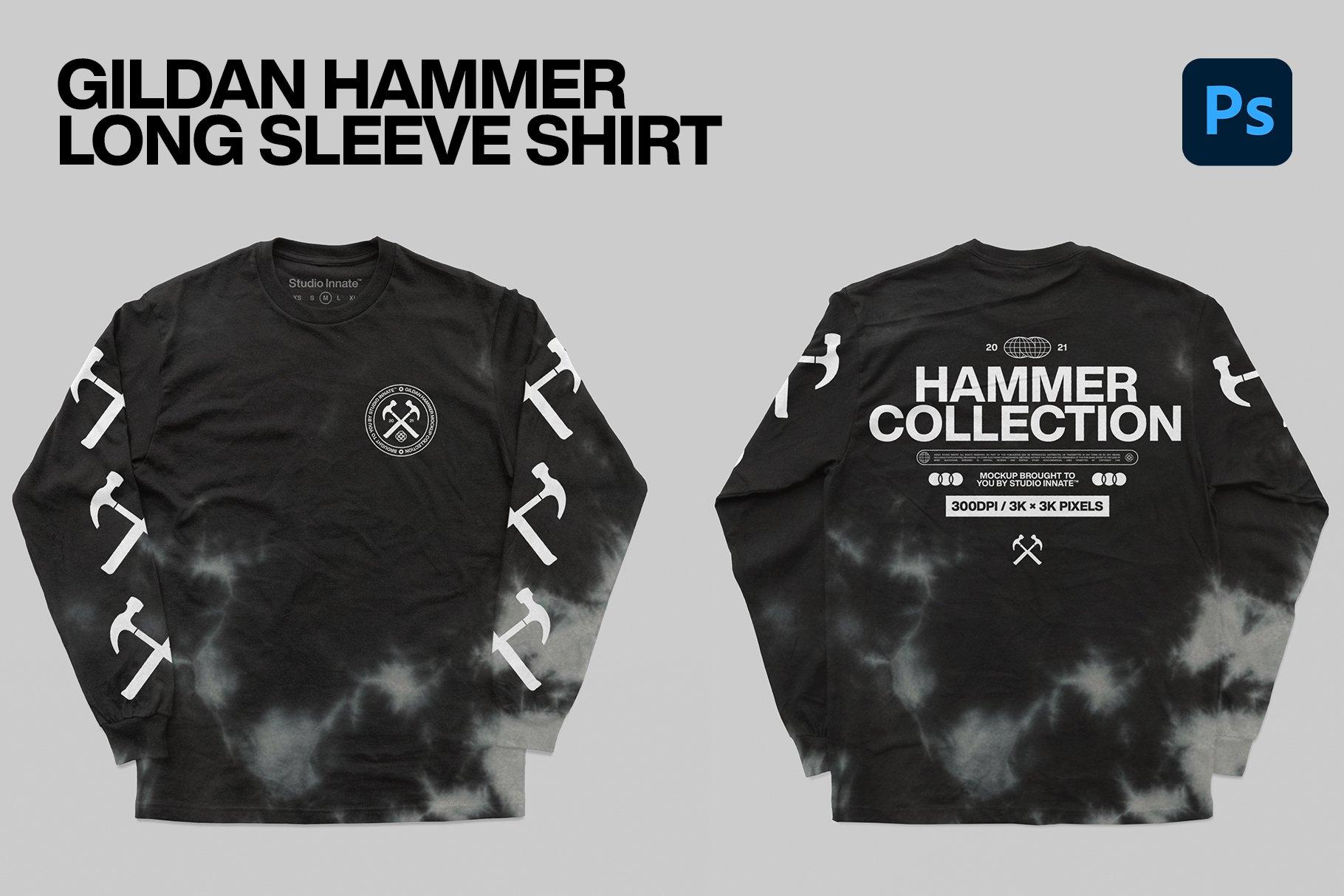 Hammer Collection 卫衣短袖PSD服装样机(4323)插图(3)
