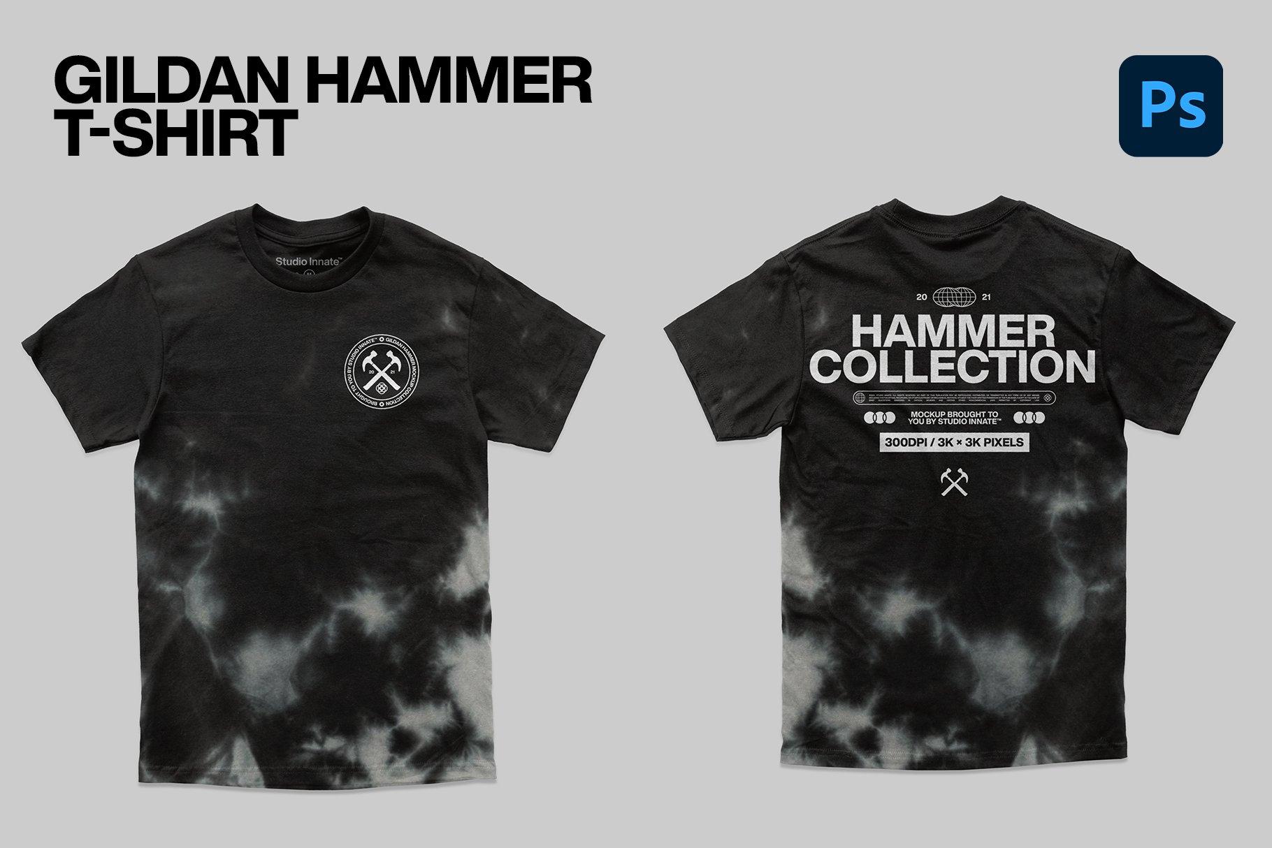 Hammer Collection 卫衣短袖PSD服装样机(4323)插图(1)
