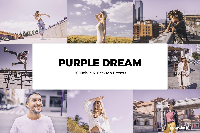 20个超现实主义紫色梦想Lightroom预设(4324)插图