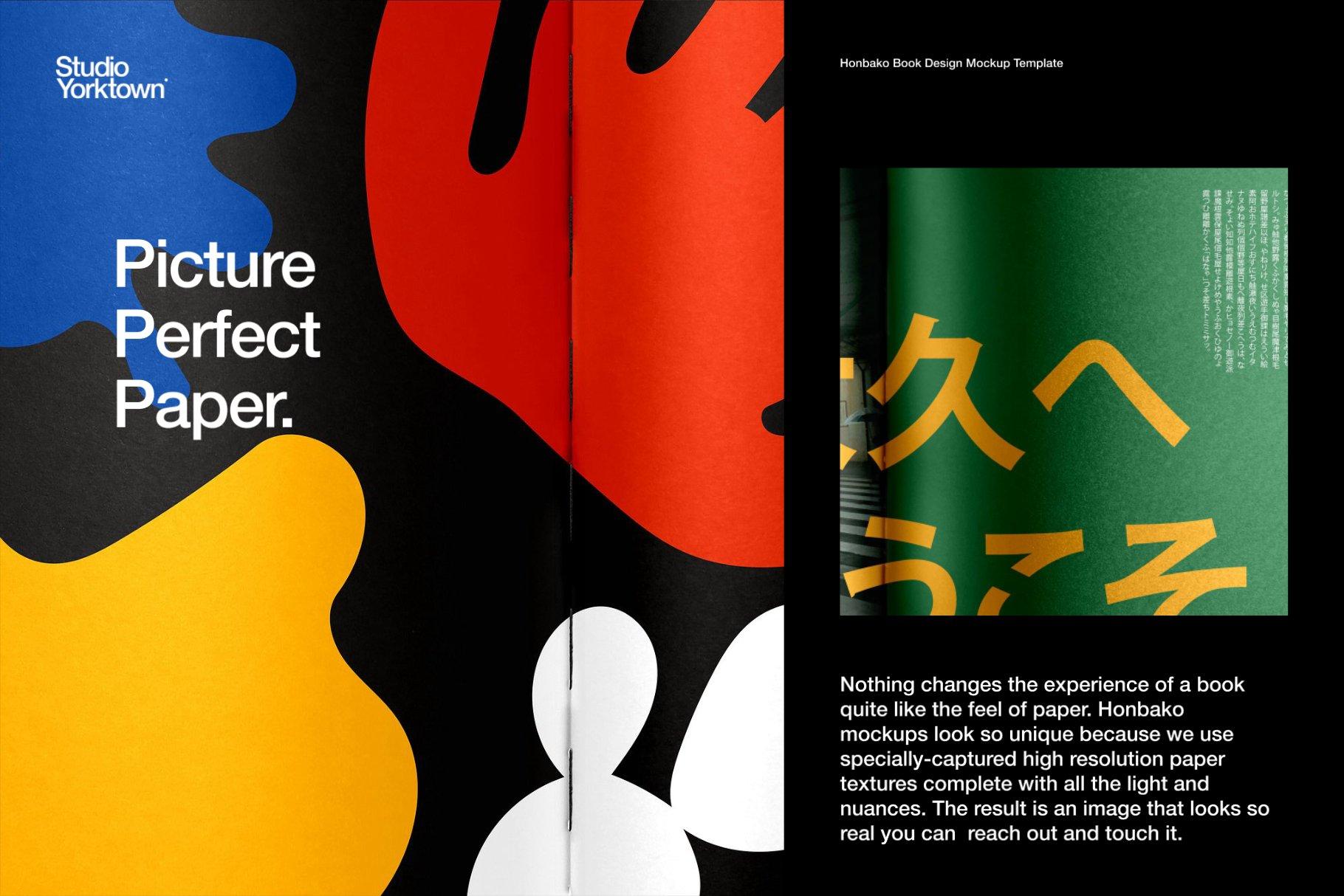 Honbako 逼真全息箔页面卷曲书籍设计PSD样机模板(4329)插图(17)