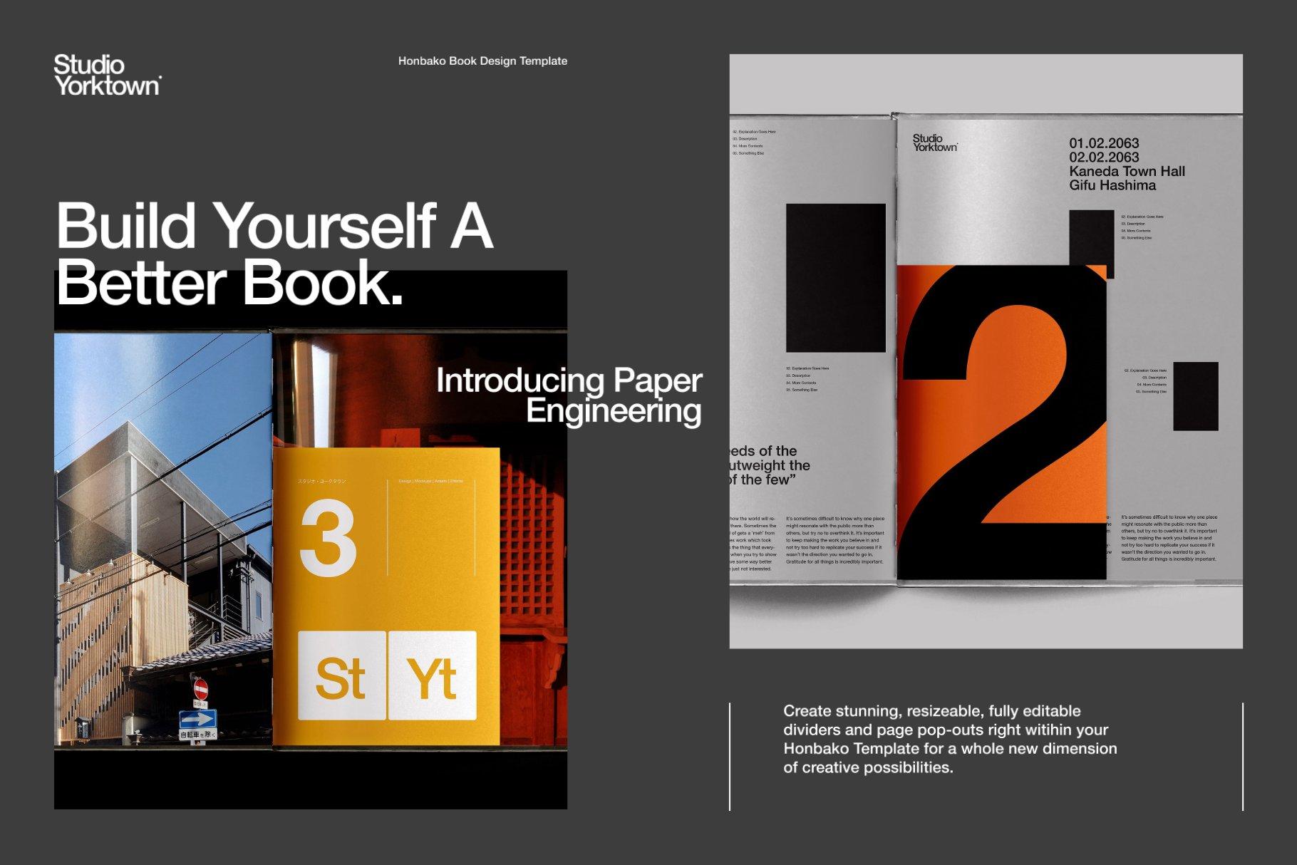 Honbako 逼真全息箔页面卷曲书籍设计PSD样机模板(4329)插图(6)