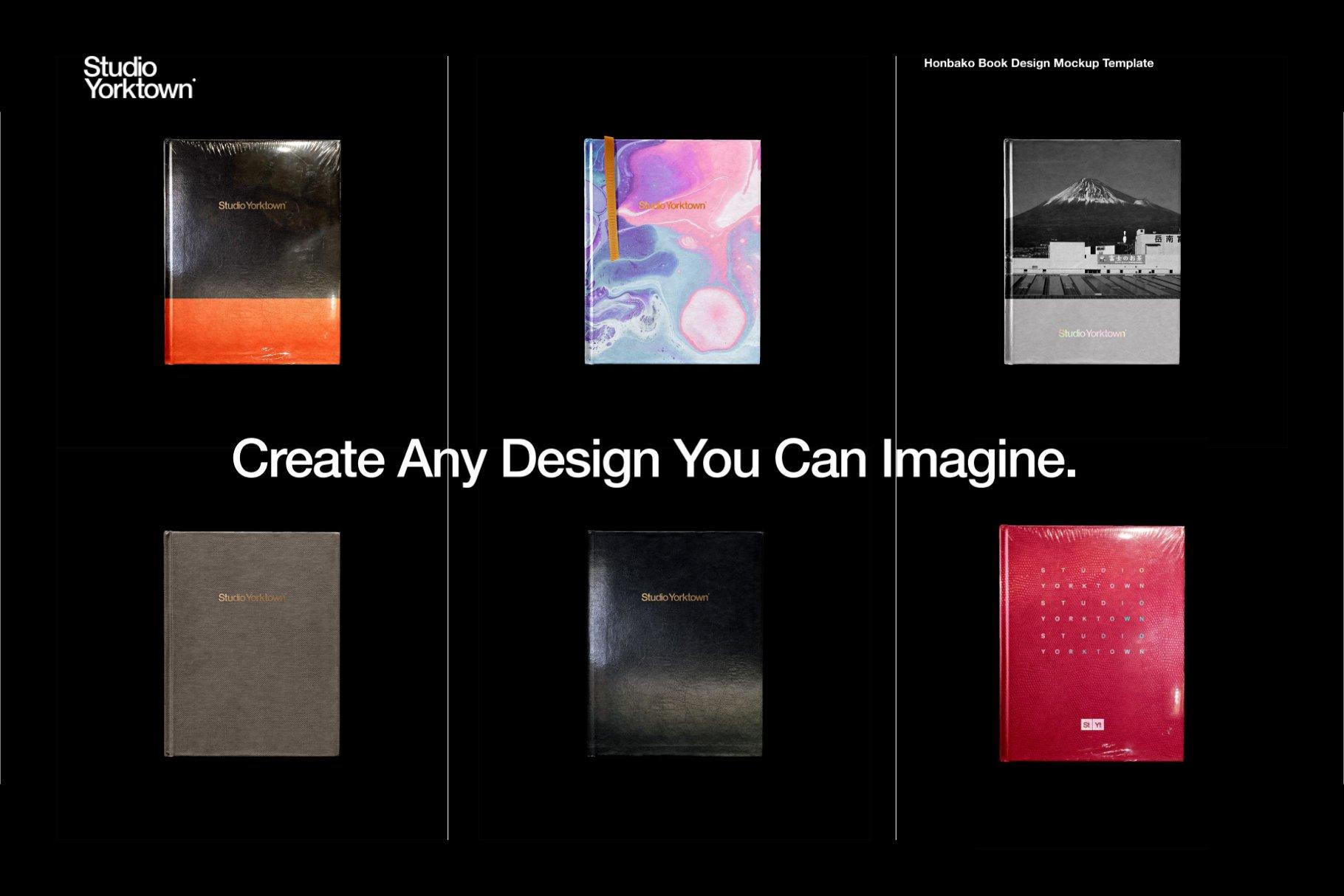 Honbako 逼真全息箔页面卷曲书籍设计PSD样机模板(4329)插图(4)