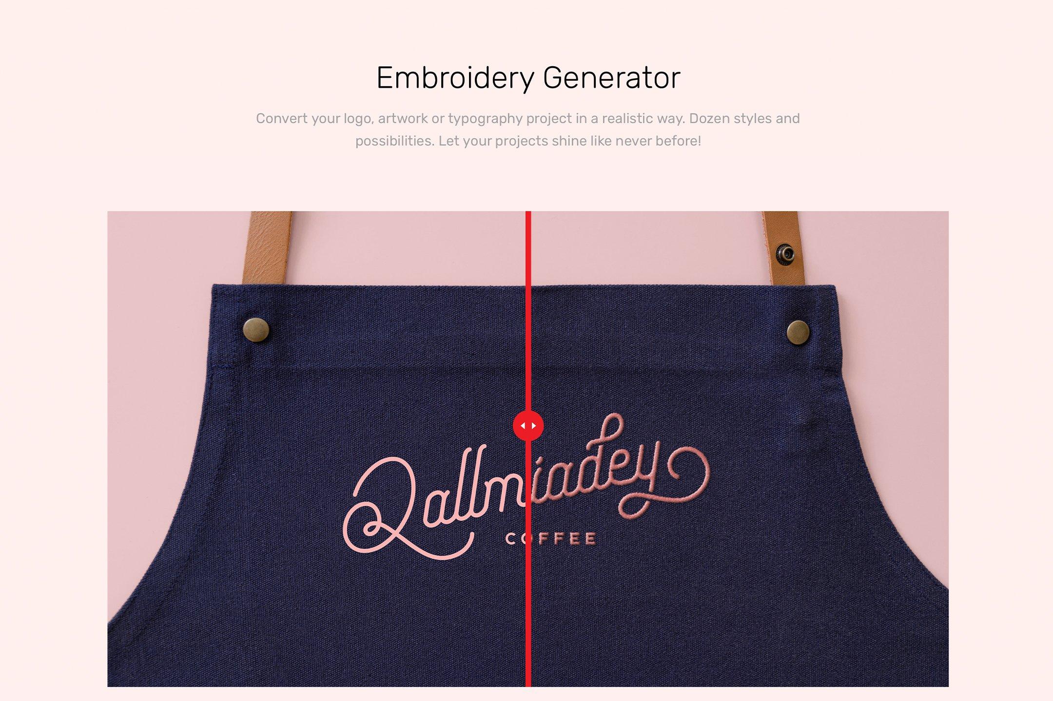 高质量纹理状织物牛仔裤胶合板围裙补丁刺绣生成PSD样机模板(4332)插图(10)