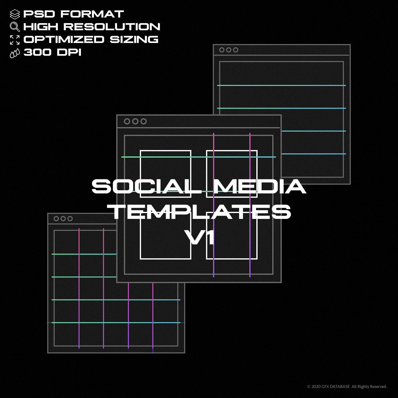 高分辨率社交媒体PSD模板(4333)插图