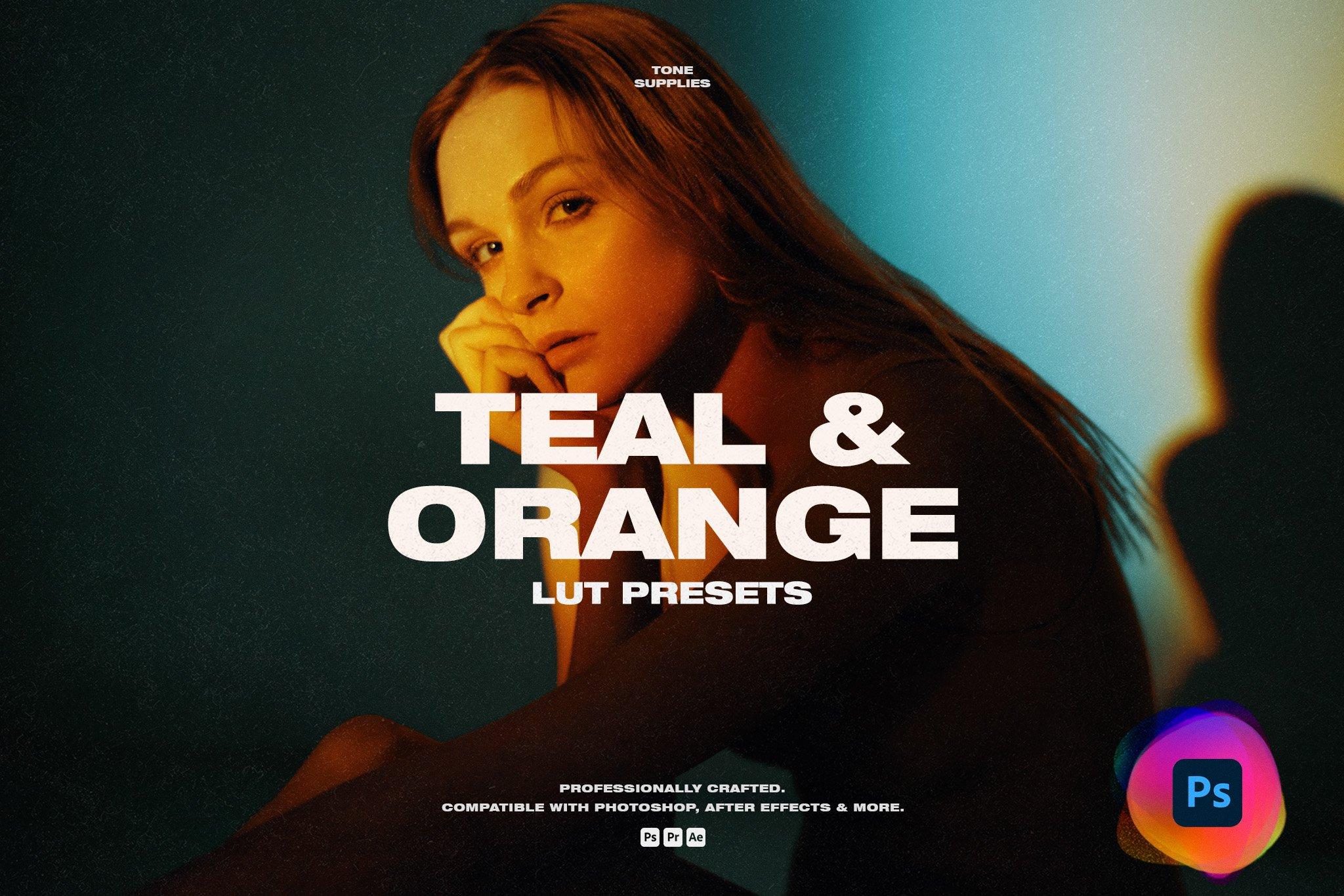 TONE SUPPLIES 10个专业艺术品戏剧性互补色蓝橙色LUT预设(4341)插图