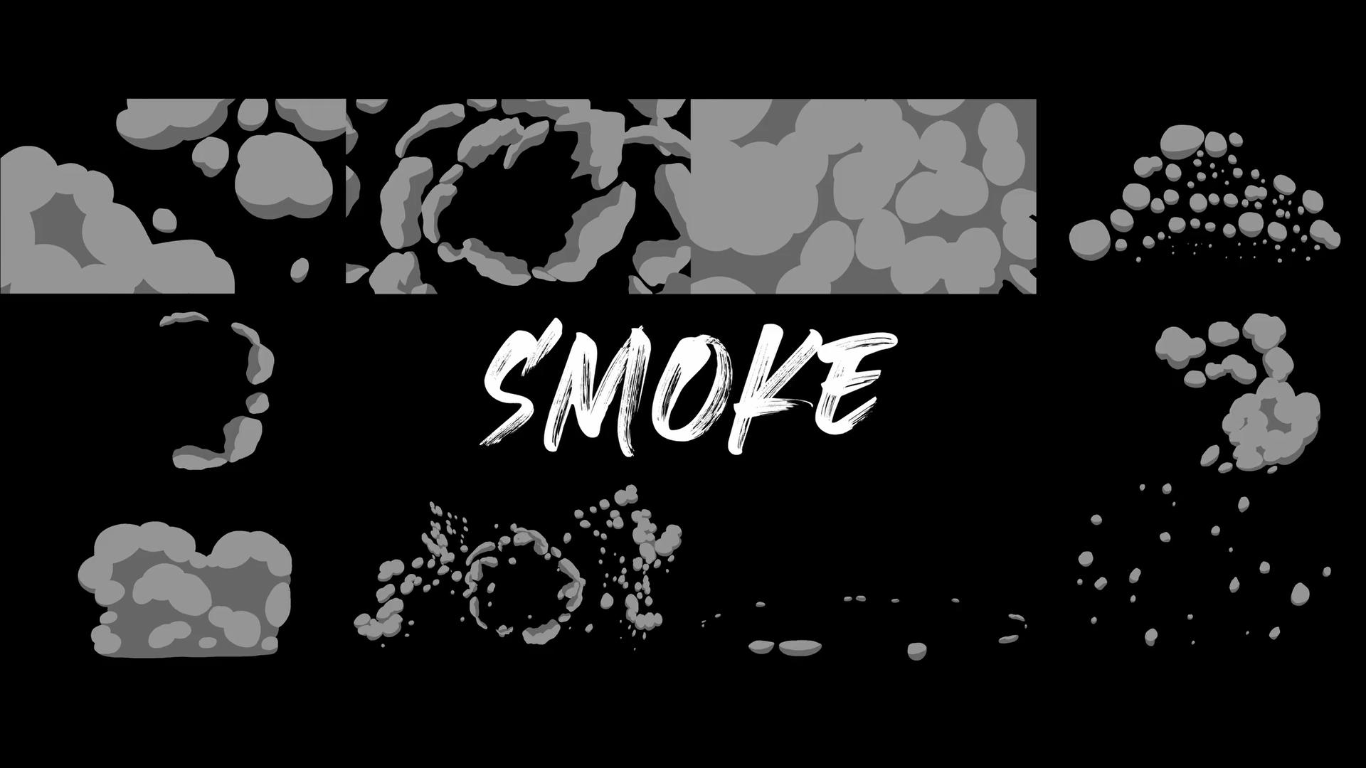 Cinepacks 2d卡通动画爆炸动作水花飞溅火焰效果烟雾缭绕视频素材(4370)插图(5)