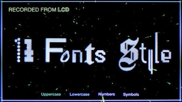 740个复古未来感手工制作CRT真实像素字体纹理视频素材(4636)插图