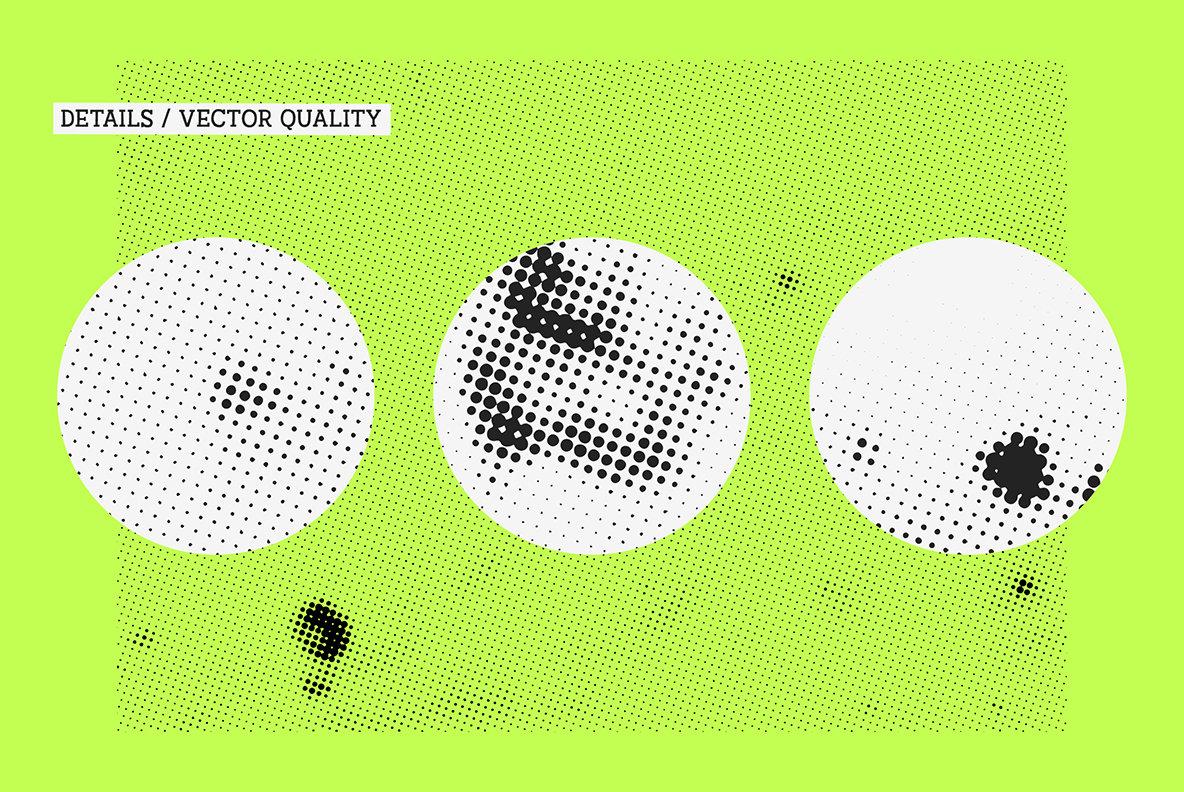 高分辨率独特的手工纹理半色调污渍Vol.1(4728)插图(7)